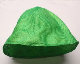 Kelly Green Parasisal Straw Hood or Cone Hat Body